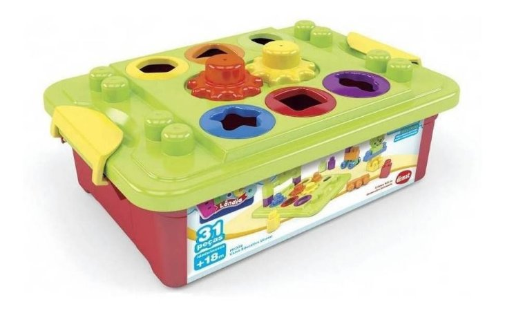 Brinquedo Lindo Caixa Educativa Dismat Mk336 Blocos Montar