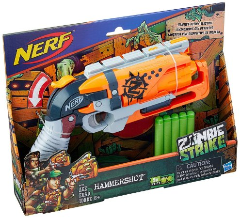 Lançador de Dardo Nerf Zombie Strike Hammershot Hasbro A4726