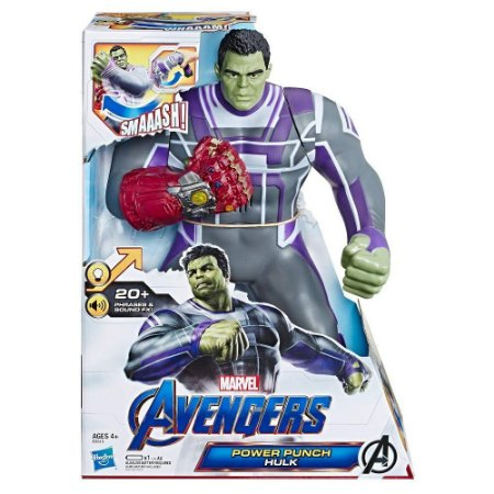 Boneco Eletronico Power Punch Hulk Vingadores Ultimato E3313
