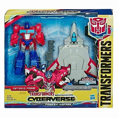 Transformers Spark Armor Optimus Prime e Sky Turbine E4220