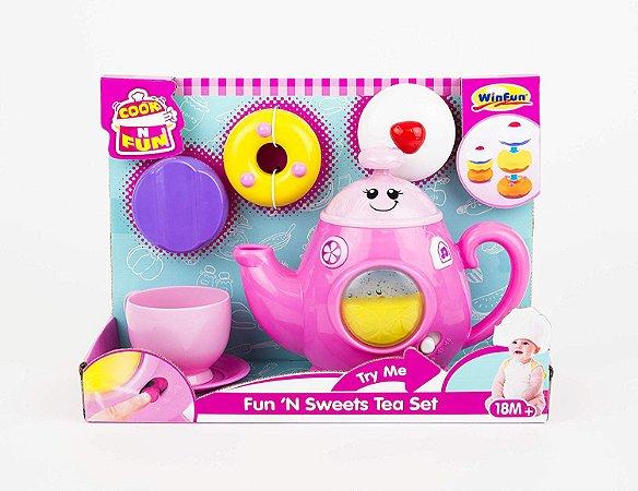 Brinquedo Kit Chá Doce Diversão Com Acessórios WinFun