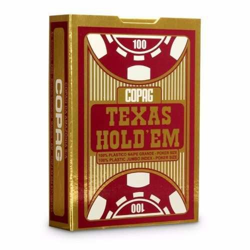 Baralho Novo Vermelho Copag Texas Holdem 100% Plástico Poker
