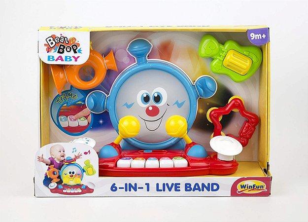 Banda Musical 6 em 1 Com Sons e Luzes WinFun 2087