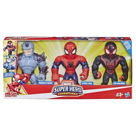 Playskool Heros Mega Mighties SPIDERMAN Posable Action Figure Super Adventures!