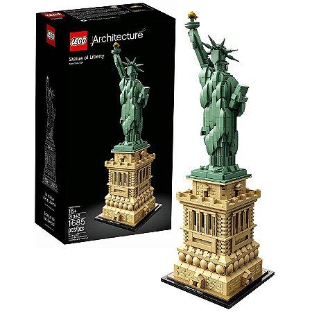 Lego Architecture Estatua da Liberdade 1685 peças 21042