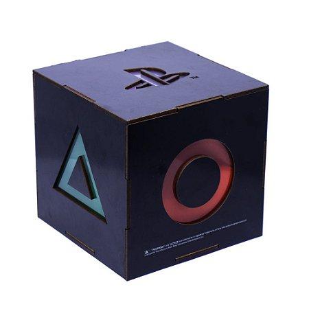 Luminaria Gamer Videogame Cubo Mdf Playstation Kathavento