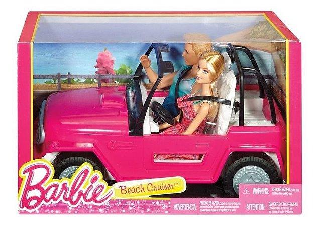 Barbie E Boneco Ken Com Automóvel Veículo De Praia Cjd12 Mat