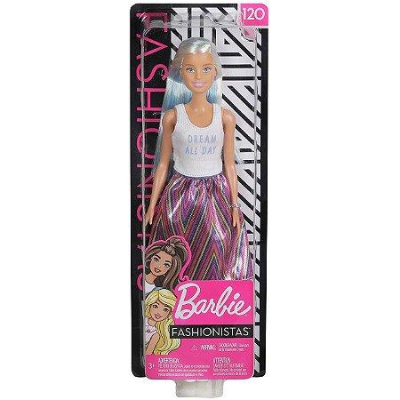 Boneca Barbie Fashionista Doll Look Modelo 120 Mattel Fbr37