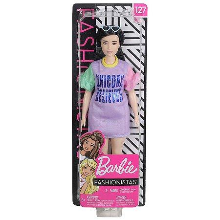 Boneca Barbie Fashionista Doll Look Modelo 127 Mattel Fbr37