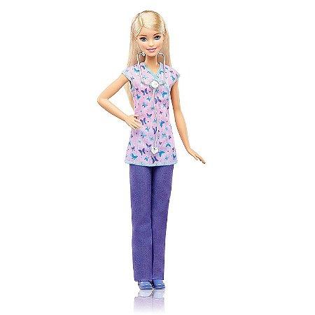Boneca Barbie Profissoes Quero ser Enfermeira Mattel Dvf50