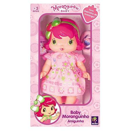 Boneca Baby Moranguinho Amiguinha Com Cheirinho Mimo 4008