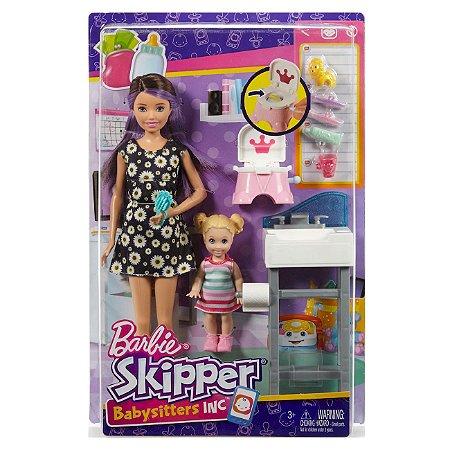 Barbie Conjunto Skipper Babysitter Peniquinho do Bebe Fhy97