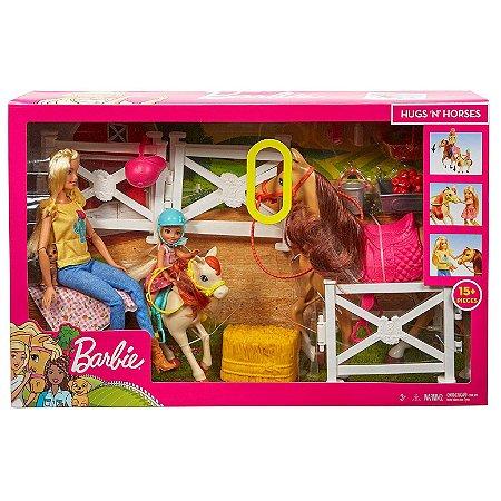 Boneca Barbie e Chelsea Diversao com Cavalos Mattel Fxh15
