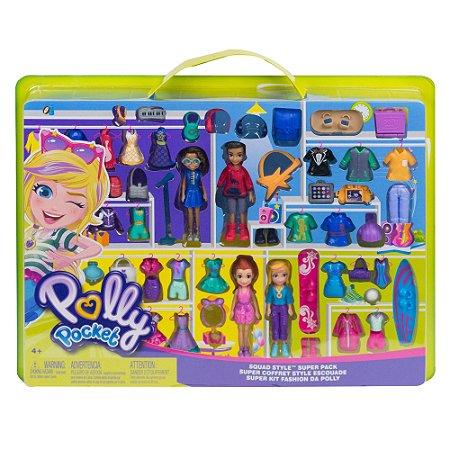 Polly Pocket Super Kit Fashion com 4 Bonecas Mattel Gfr11