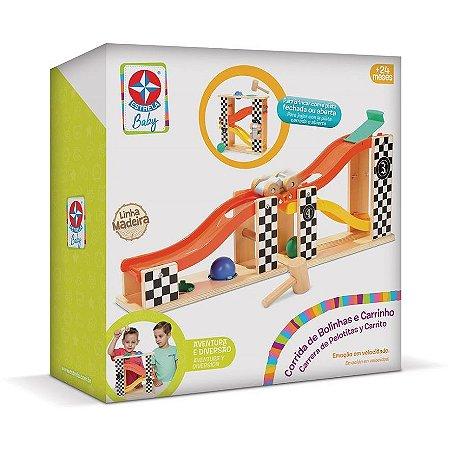 Brinquedo Corrida de Bolinhas e Carrinho Estrela Baby