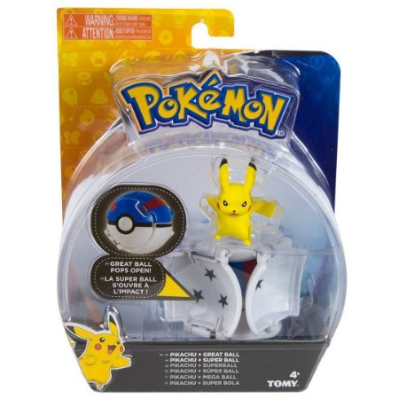 Figura Pokemon Pops Open Pikachu e Pokebola Tomy Sunny 1962