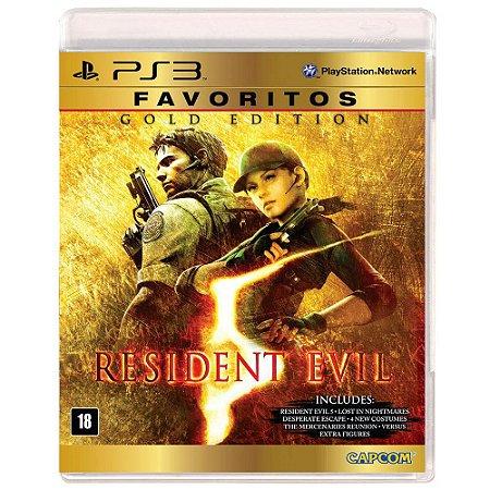 Jogo Resident Evil 5 Gold Edition Compativel Com Move Do Ps3