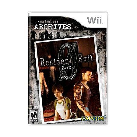 Jogo Lacrado Midia Fisica Resident Evil Archives Zero Wii