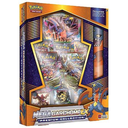 Box Pokemon Tcg Card Mega Garchomp EX Coleçao Premium Copag