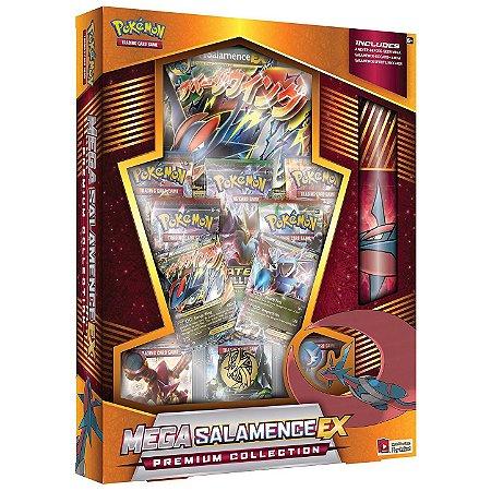 Box Pokemon Tcg Card Mega Salamence EX Coleçao Premium Copag