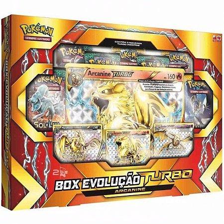 Box Pokemon Box Evolução Turbo Arcanine Original Copag