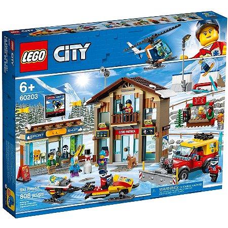 Lego City Resort de Esqui com 806 peças e 11 Figuras 60203