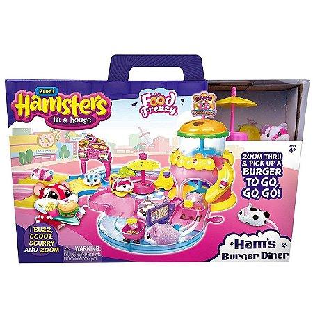 Brinquedo Hamsters in a House Hamburgueria e Hamster 7708