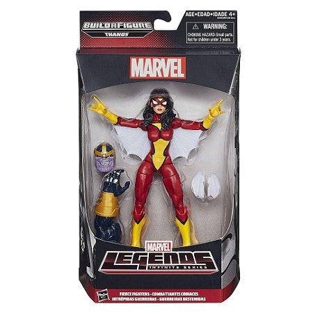 Boneco Marvel Legends Build a Figure Spider Woman HQ B0438