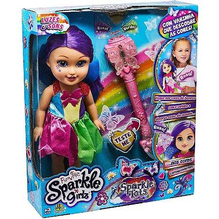 Boneca Sparkle Girlz Fada das Cores com Som e Luzes Dtc 4807