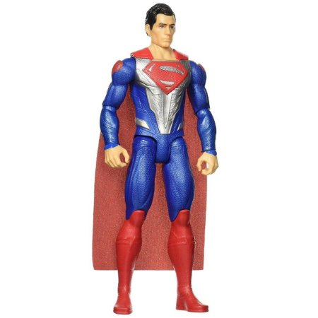 Boneco Justice League Superman Armadura Metalizada DC Fgg78