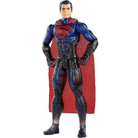 Boneco Justice League Superman Uniforme Camuflado DC Fgg78
