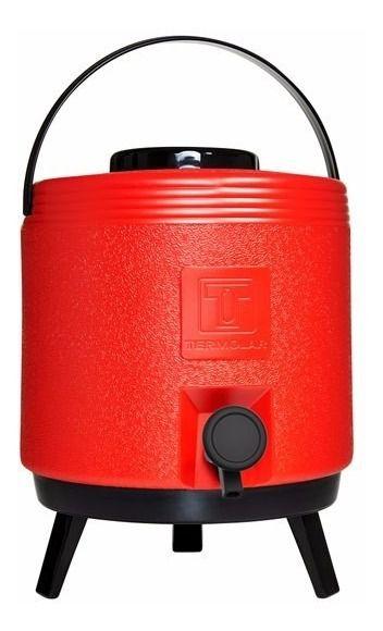 Novo Garrafão Térmico Maxitermo 8 Litros Vermelho Termolar
