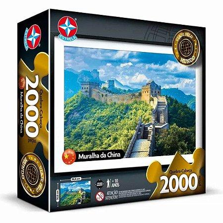 Quebra Cabeça A Muralha da China com 2000 Peças da Estrela