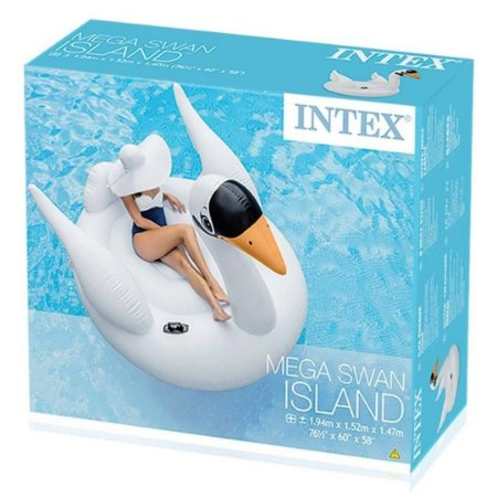 Boia Inflavel Bote Cisne Grande Branco 200 Kg Intex 56287