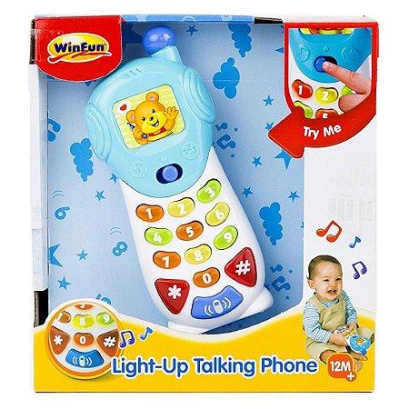 Brinquedo Infantil Celular Luminoso Falante da WinFun 000619