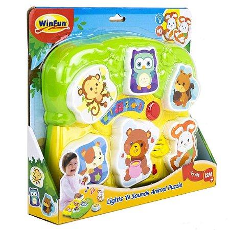 Brinquedo Infantil Encaixe os Bichos com Som e Luz 000771