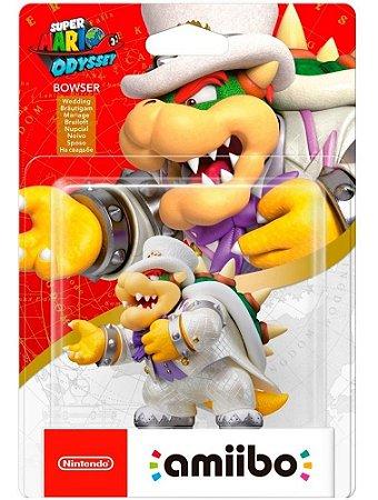 Boneco Amiibo Super Mario Odyssey Bowser 3ds Switch New 2ds