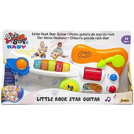 Brinquedo Infantil Guitarra Baby Estrela do Rock WinFun 2000