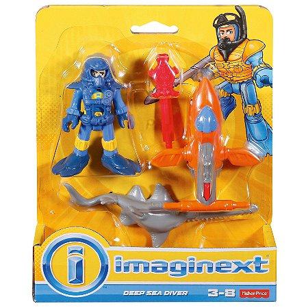 Imaginext Oceano Mini Mergulhador de Aguas Profundas Dfy01