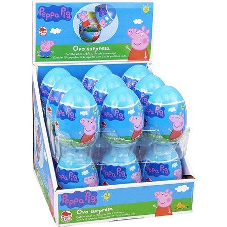 Doce Pastilhas Peppa Pig Ovo Surpresa Caixa com 18 Dtc 4295