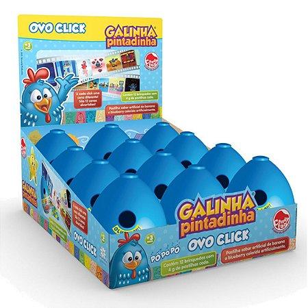 Doce Pastilha Ovo Click Galinha Pintadinha Caixa com 12 4980