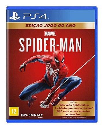 Jogo Do Ano Ps4 Mídia Física Homem Aranha Spider Man Goty
