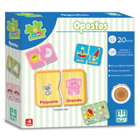 Jogo de Encaixe Opostos com 20 Peças da Nig Brinquedos 0417