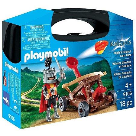 Brinquedo Playmobil Cavaleiro com Catapulta da Sunny 9106