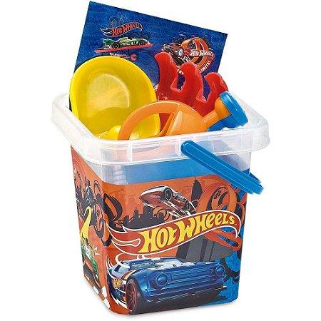 Brinquedo Baldinho de Praia Infantil Hot Wheels da Fun 82746