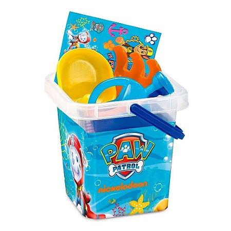 Brinquedo Baldinho de Praia Infantil Patrulha Canina 83430