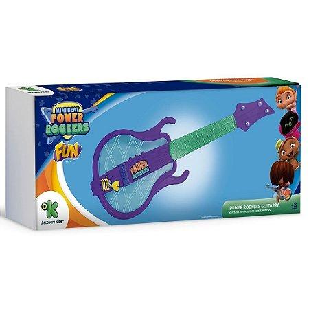 Brinquedo Guitarra Musical Power Rockers Infantil Fun 84272