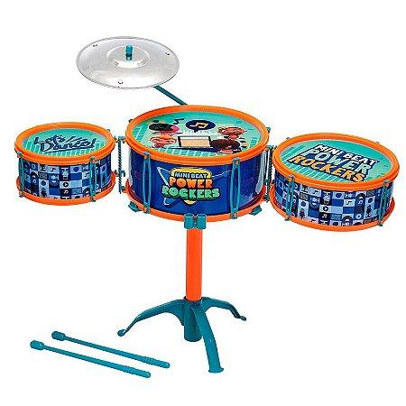 Brinquedo Bateria Musical Power Rockers Infantil Fun 84270
