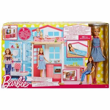 Brinquedo Barbie Real Casa Com Boneca Mattel Dvv48