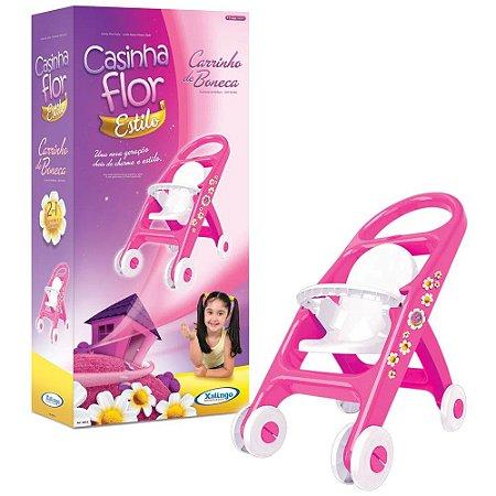 Brinquedo Carrinho de Boneca Casinha Flor Xalingo 0481.0